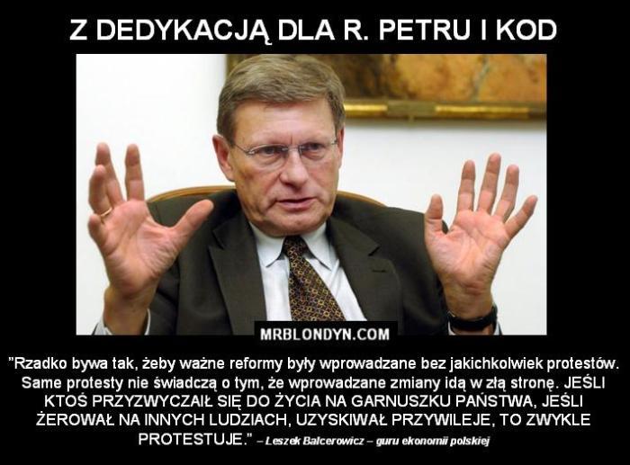 Balcerowicz o reformach